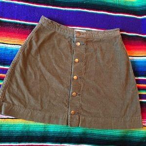 American Apparel Corduroy Skirt size Medium